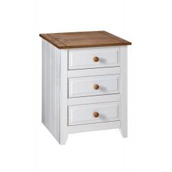 Capri 3 Drawer Bedside Cabinet