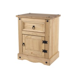 Corona 1 Door, 1 Drawer Bedside Cabinet