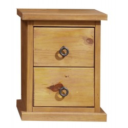 Farmhouse 2 Drawer Bedside Cabinet