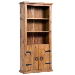 Farmhouse 2 Door Bookcase - Self Assembly