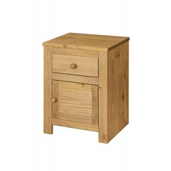 Hacienda 1 Door, 1 Drawer Bedside Cabinet