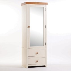 Jamestown 1 Mirrored Door, 2 Drawer Wardrobe
