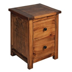 Denver 2 Drawer Bedside Cabinet