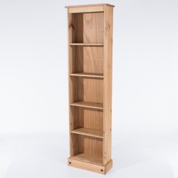 Corona Tall Narrow Bookcase