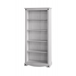 Corona White Wash Tall Bookcase