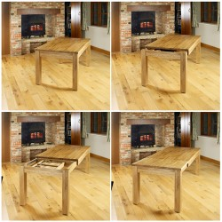 Mobel Extending Oak Dining Table (Seats 4-8)