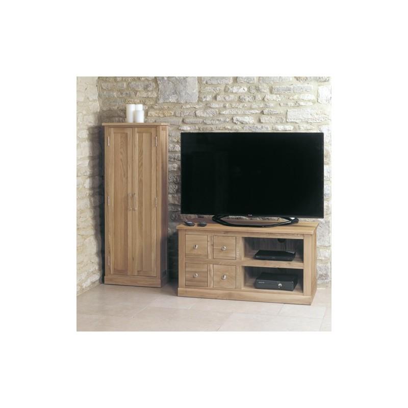 mobel oak four drawer television cabinet loading zoom