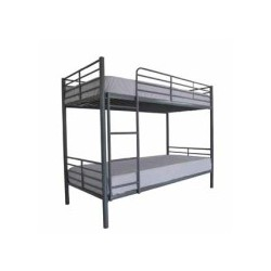 Apollo Bunk Bed, Metal Frame, Silver Finish