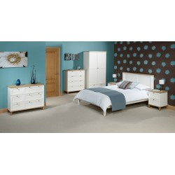 """Boston 5'0"""" Double Bed, Ash Veneers, Clasy And Simple Style"""
