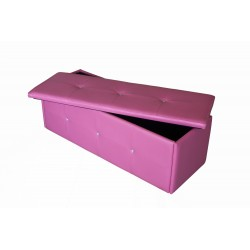 Diamante Ottoman, storage Box, Toy Box, Blanket Box, Pink Faux Leather