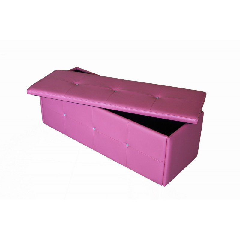 Excellent Diamante Ottoman Storage Box Toy Box Blanket Box Pink Faux Leather Fimu Co Uk Ocoug Best Dining Table And Chair Ideas Images Ocougorg