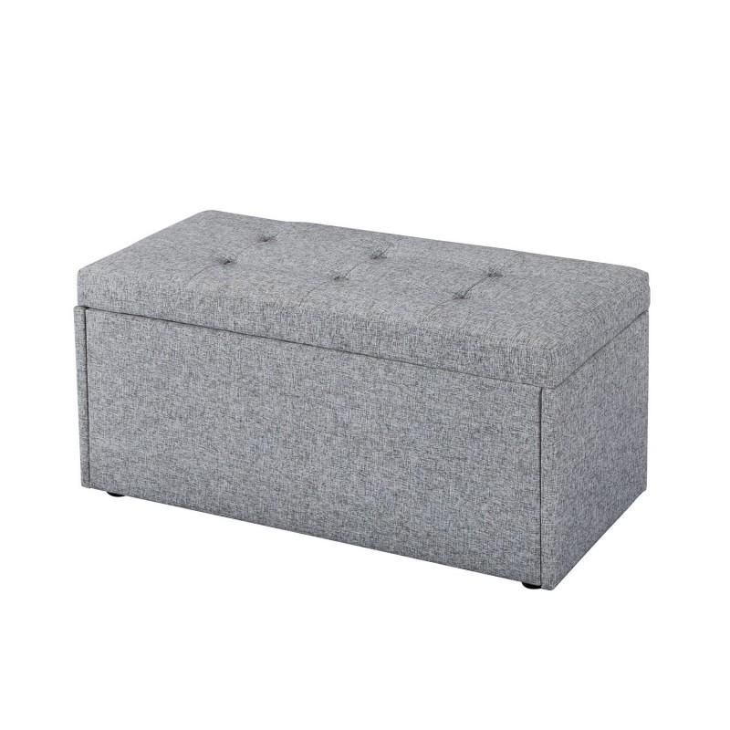 Ottomans Lucia Storage Chest Grey Fabric: Hartford Ottoman, Storage Box, Toy Box, Blanket Box, Grey