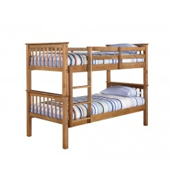 Leo Bunk Bed, Splits Into Two Separate Beds, Antique Wax pine