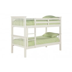Leo Bunk Bed, Splits Into Two Separate Beds, Solid Off White
