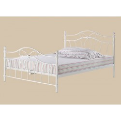 """Monaco 4'6"""" Double White Bed, Elegant Traditional Style, Attractive Price Point"""