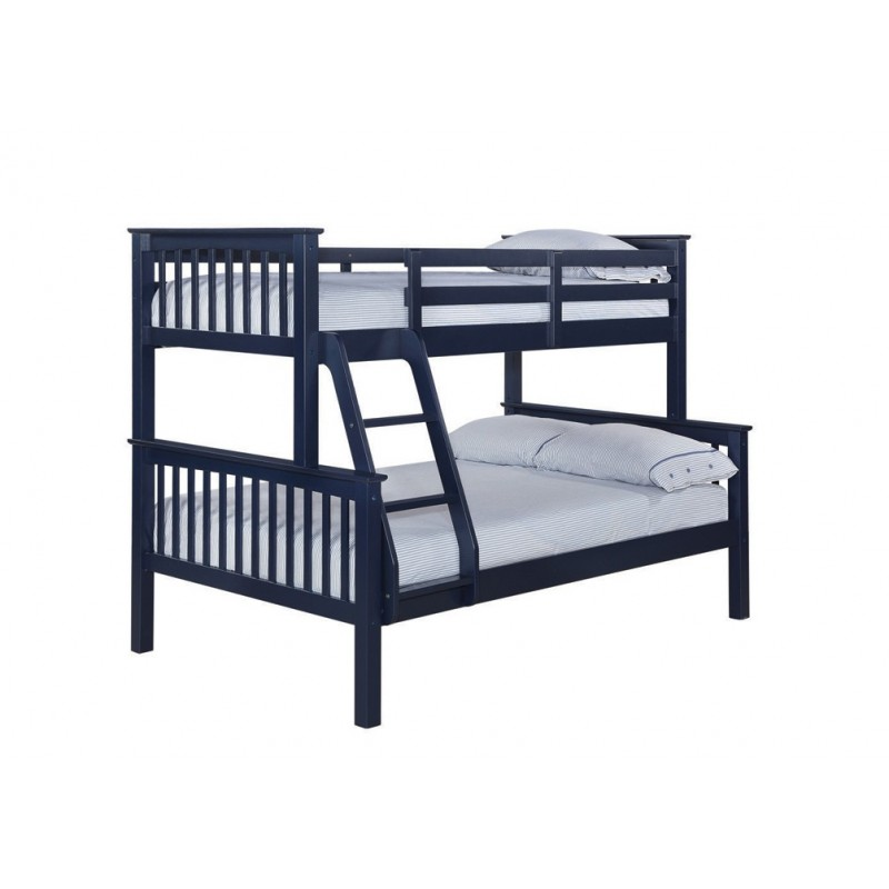 Otto Trio Bunk Bed Heavy Duty Can Be Sperated Solid Navy Blue