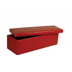 Stanton Ottoman, Storage, Blanket, Toy Box in Red Faux Leather