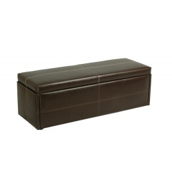 Stanton Ottoman, Storage, Blanket, Toy Box in Brown Faux Leather
