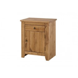 Havana 1 Drawer + 1 Door Bedside Canbinet/ Table, Contemporary Style, Classic Aztec Colour Tones