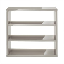 Puro Bookcase, Sleek Contemporary Style, High Gloss Cream