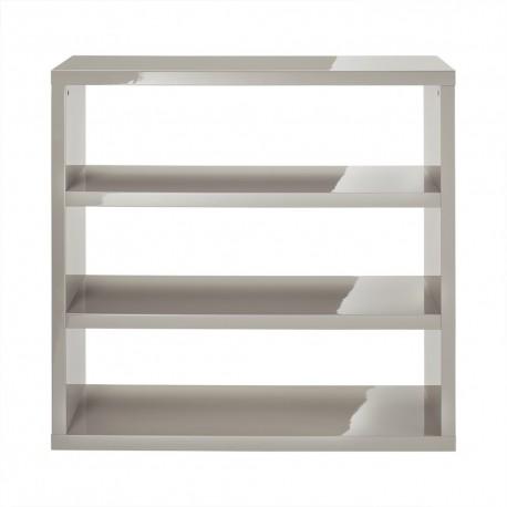 Puro Bookcase, Sleek Contemporary Style, High Gloss Cream