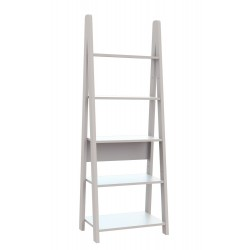 Tiva Ladder Bookcase Coated in White Colour