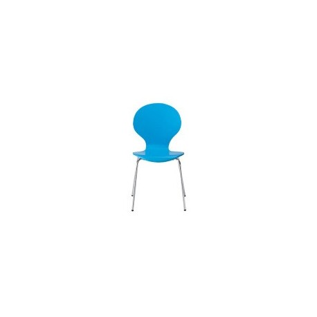 Ibiza Chairs, Blue, Chrome Legs Pack of 4