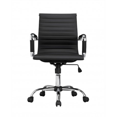 Ikon Office Chair, Black Faux Leather