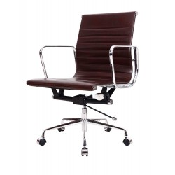 Ikon Office Chair, Brown Faux Leather
