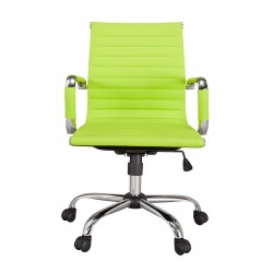 Ikon Office Chair, Lime Faux Leather