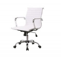 Ikon Office Chair, White Faux Leather