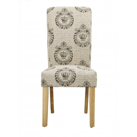 Kensington 2 Dining Chairs, Oak Solid Wood Legs, Regal Fabric