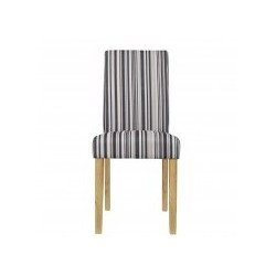 Lorenzo Chair, Striped Fabric, Solid wood Legs