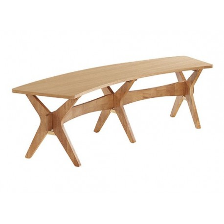 Malmo Bench, High End Appeal, Solid Wood, White Oak Venners