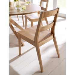 Malmo 2 Dining Chairs, Solid Wood, White Oak Venners