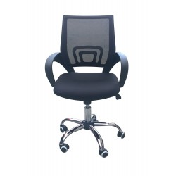 Tate Mesh Back Office Chair Black, Adjustable Seat with Chrome Finish