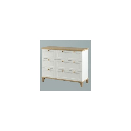 Boston 3 Drawer Chest, Eye Catching Ash Tops And Trims, Suites A Modern Setting