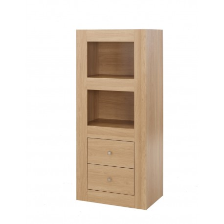 Moda 2 Tier Storage, 2 Drawers, Robust And Durable Appearence, Modern Style, Oak Wood