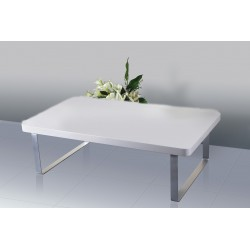Accent Coffee Table High Gloss White