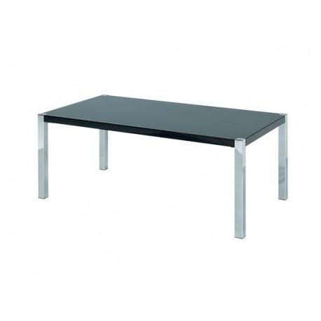 Novello Coffee Table, Chrome Legs, Modern Style, High Gloss Black