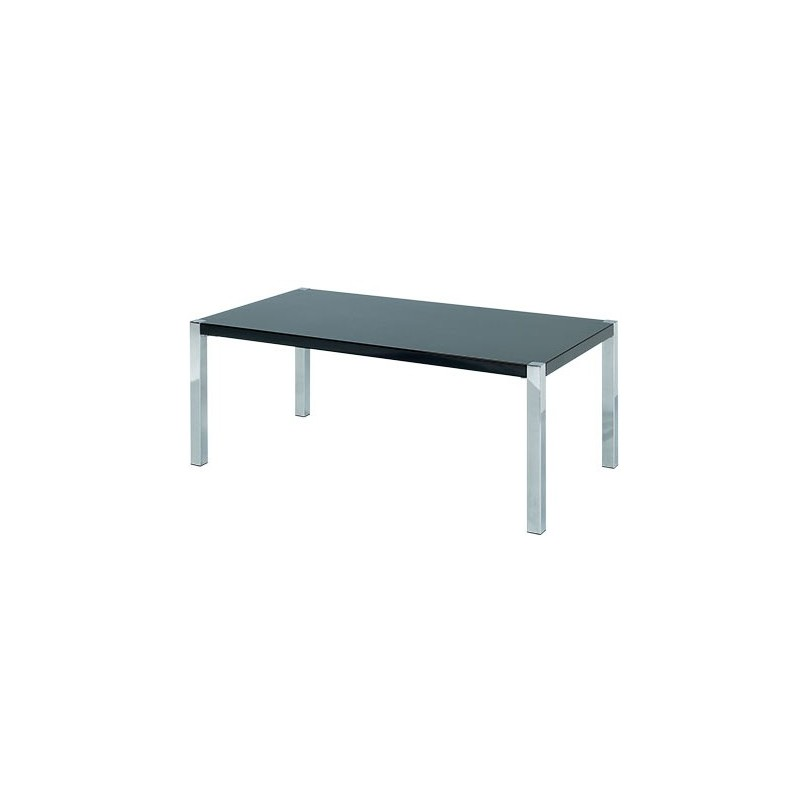Novello Coffee Table, Chrome Legs, Modern Style, High Gloss Black. Loading  Zoom