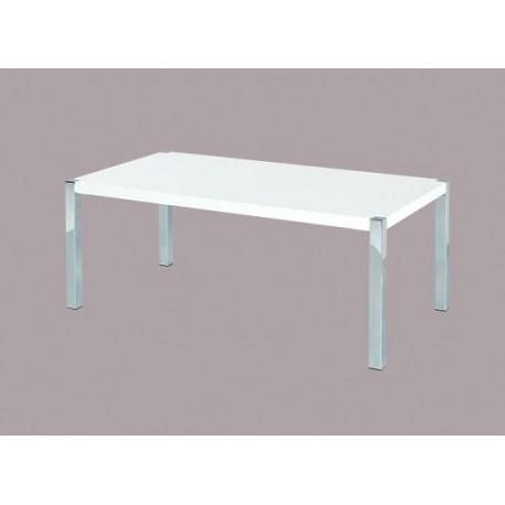 Novello Coffee Table Chrome Legs Modern Style High Gloss White