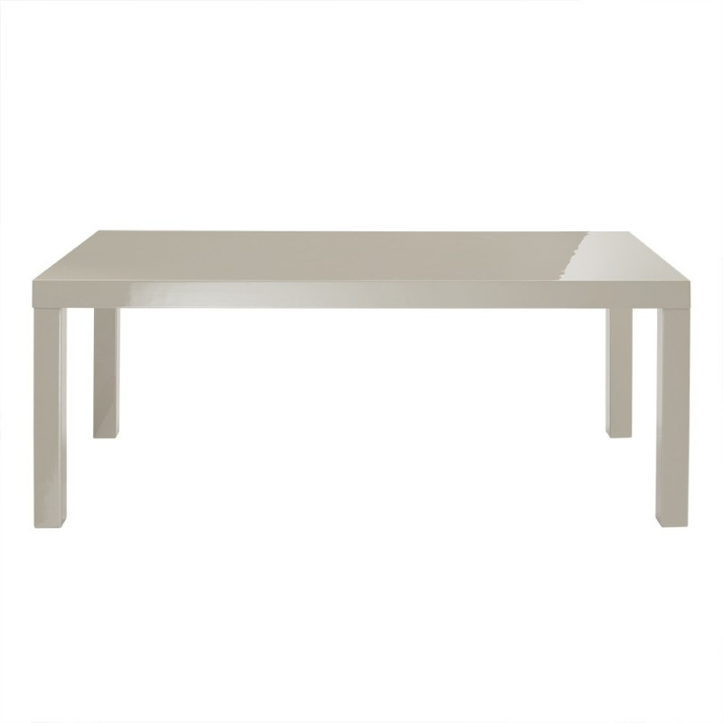 Puro coffee table sleek contemporary style high gloss cream Sleek coffee table