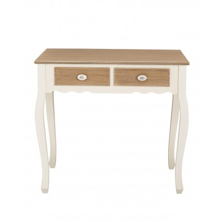Juliette Console Table, 2 Drawers, Vintage Style, Painted Finish, Solid Pine And MDF