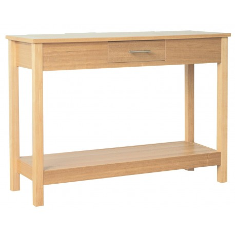 Oakridge Console Table, Real Ash Veneer With Oak Finish, Suits Any Style