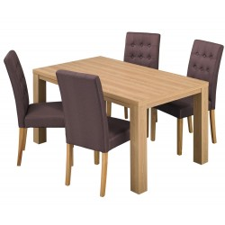 Curve Dining Table, Oak Finsh