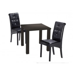 Monroe Small Dining Table, High Gloss Black