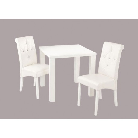 Monroe Small DIning Table, High Gloss White