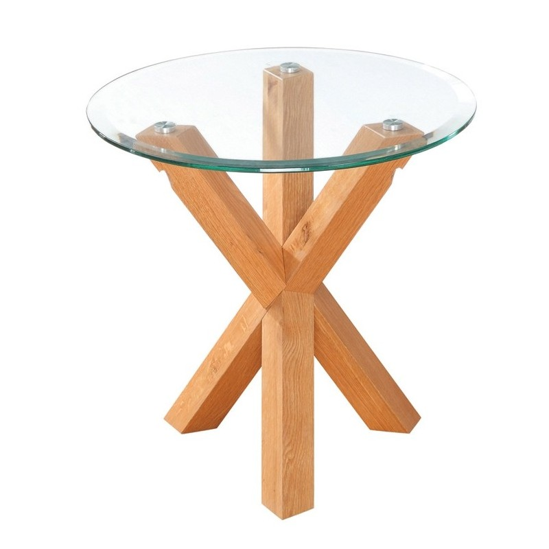 Oporto endlamp table clear bevelled glass top solid oak legs oporto endlamp table clear bevelled glass top solid oak legs loading zoom aloadofball Choice Image