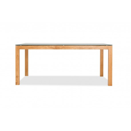 Tribeca Solid Oak Range Dining Table with some Vaneers